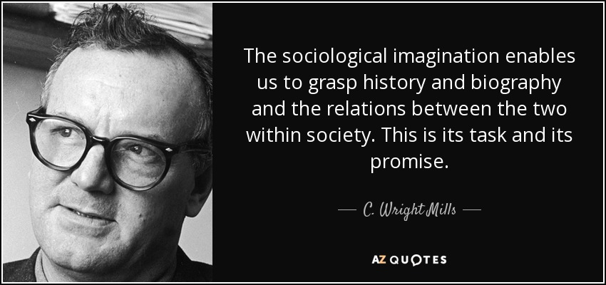 what did c wright mills mean by the sociological imagination Book review: c wright mills and the sociological imagination:  to the  sociological imagination were, they did not necessarily indicate any.